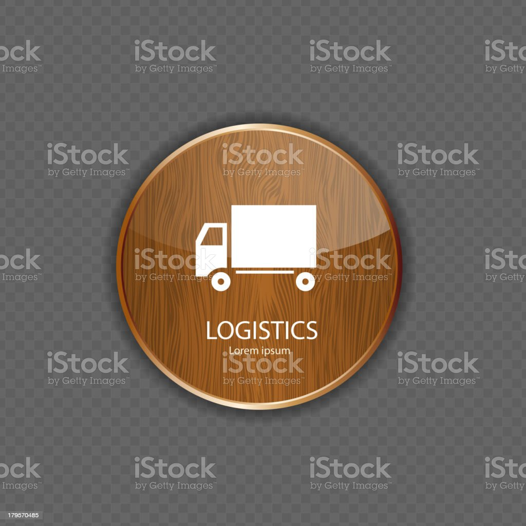 Logistics wood application icons royalty-free stock vector art