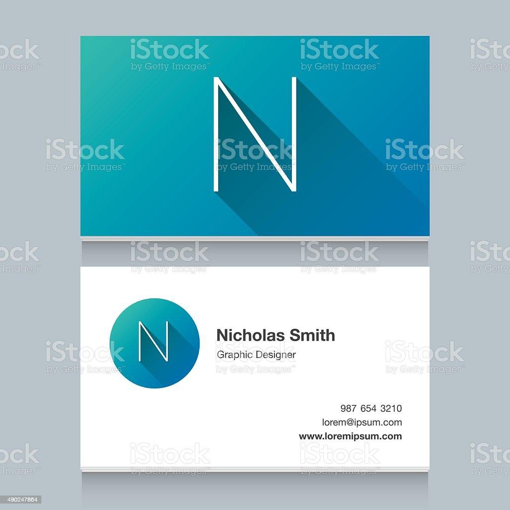 Logo alphabet letter 'N' vector art illustration