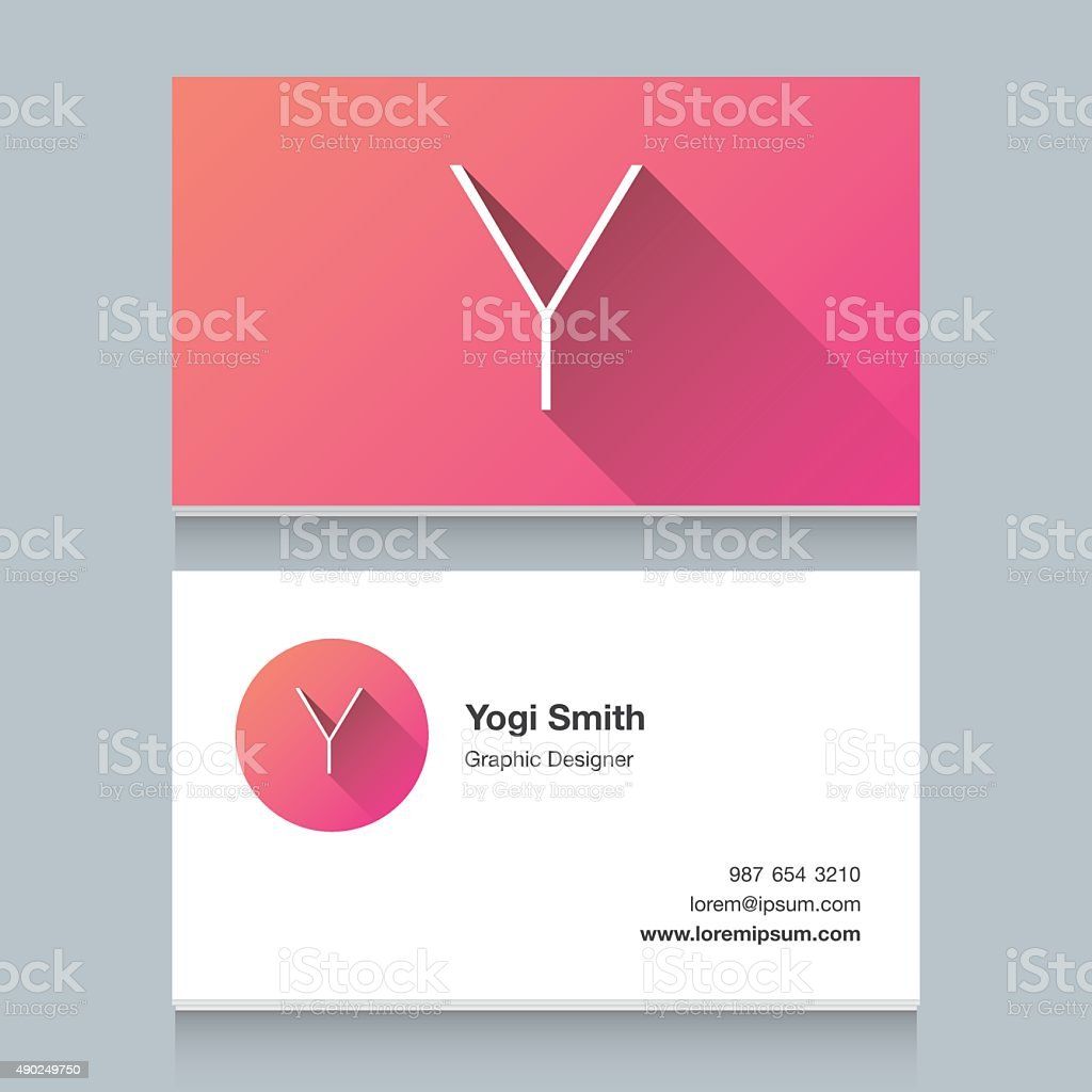 Logo alphabet letter 'Y' vector art illustration