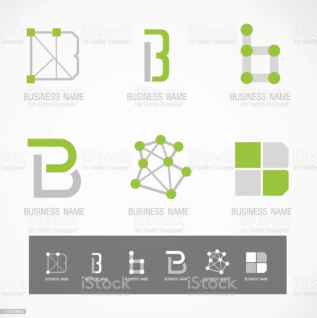 Logo and Symbol design B concept vector art illustration
