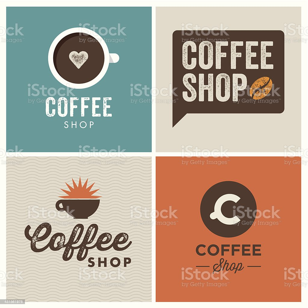 logo coffee shop vector art illustration