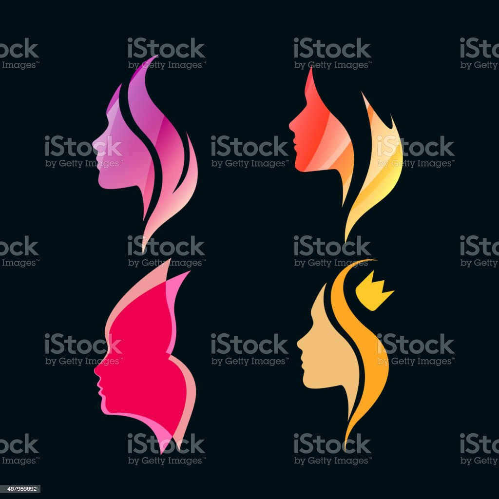 Logo Concept for Beauty Salons and Spa vector art illustration