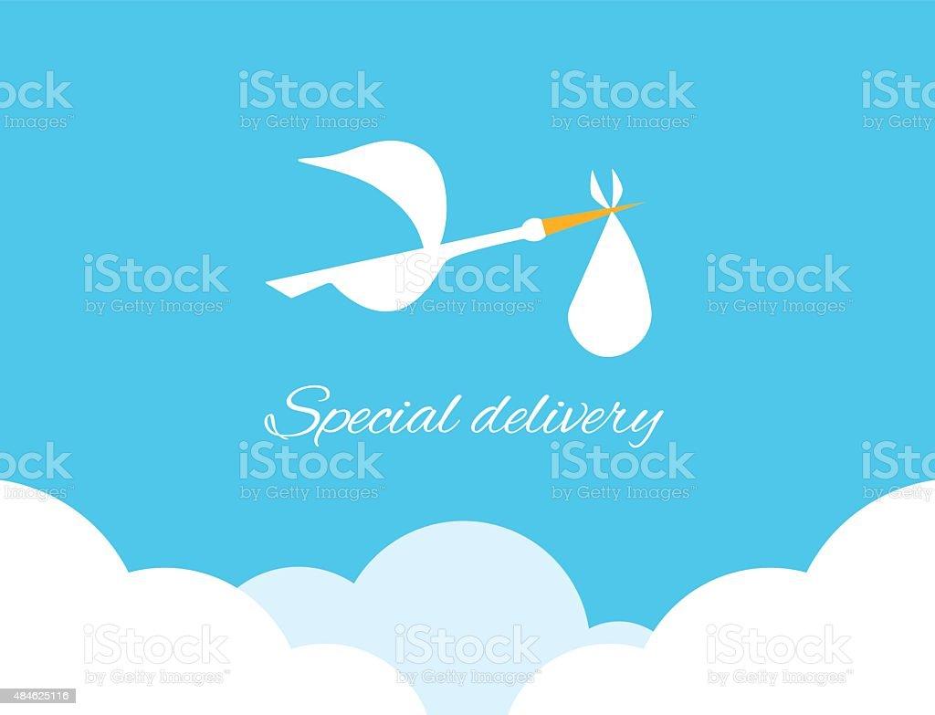 Logo design element Special delivery vector art illustration