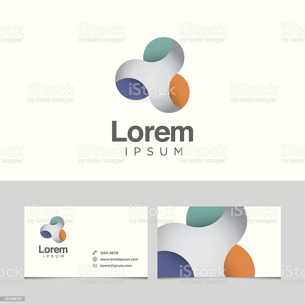Logo design element with business card template royalty-free stock vector art