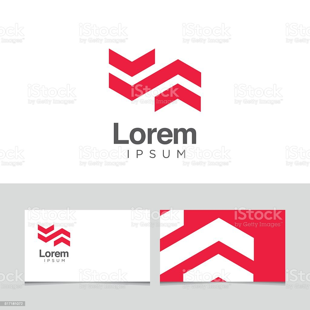 Logo design elements with business card template. vector art illustration