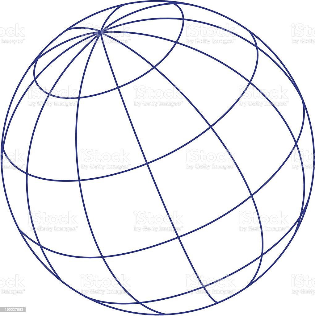 Logo elements: globe royalty-free stock vector art