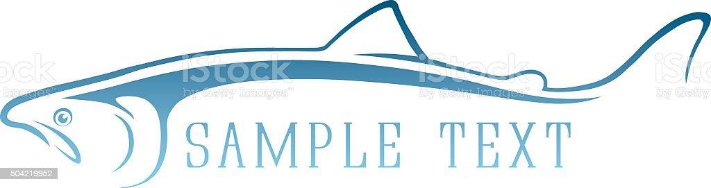 logo fish vector art illustration