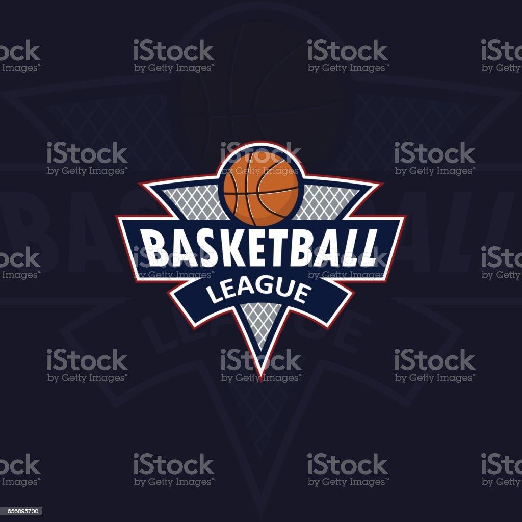 logo for a basketball team or a league vector art illustration
