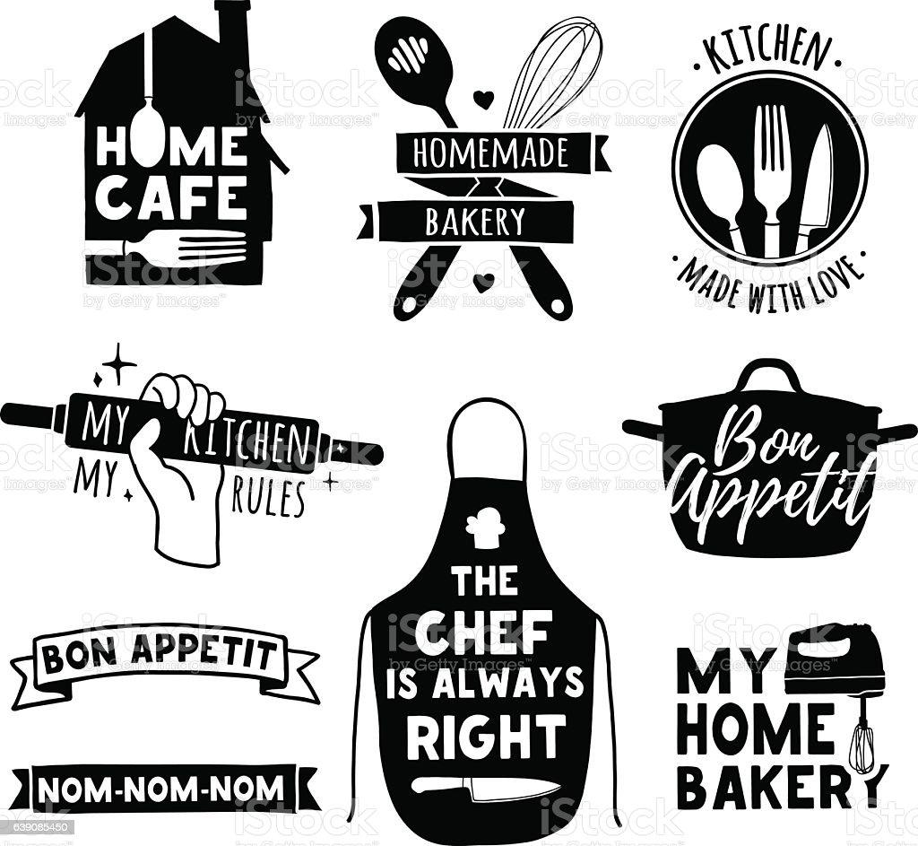 Logo for bakery shop, cooking club, cafe, food studio vector art illustration