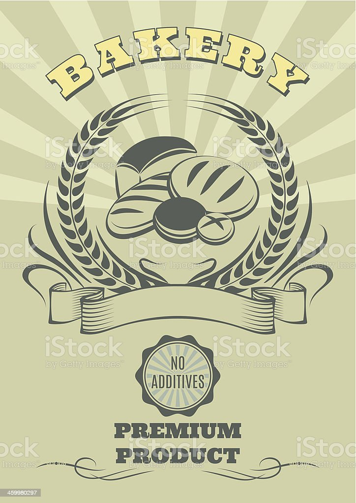 logo for baking and set of bread royalty-free stock vector art