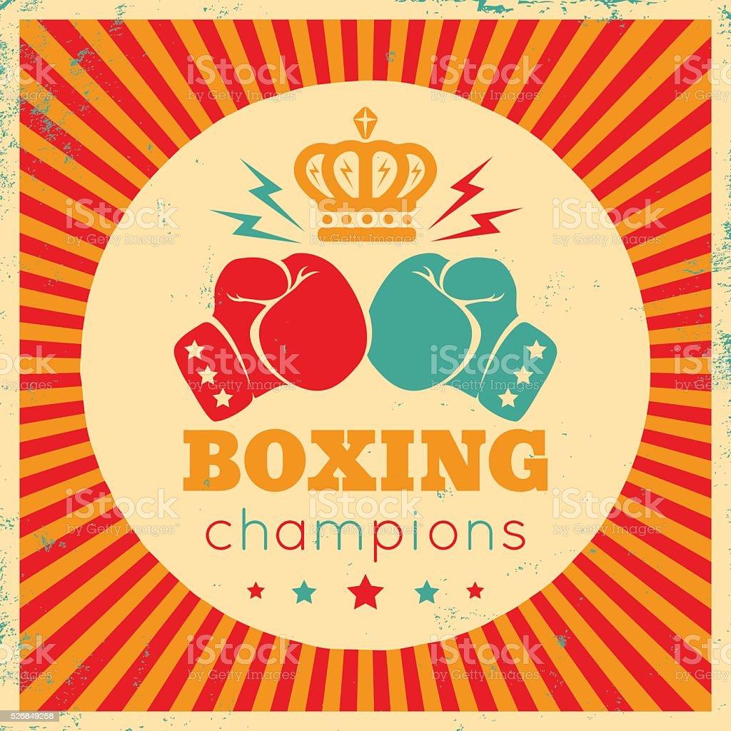 Logo for boxing vector art illustration