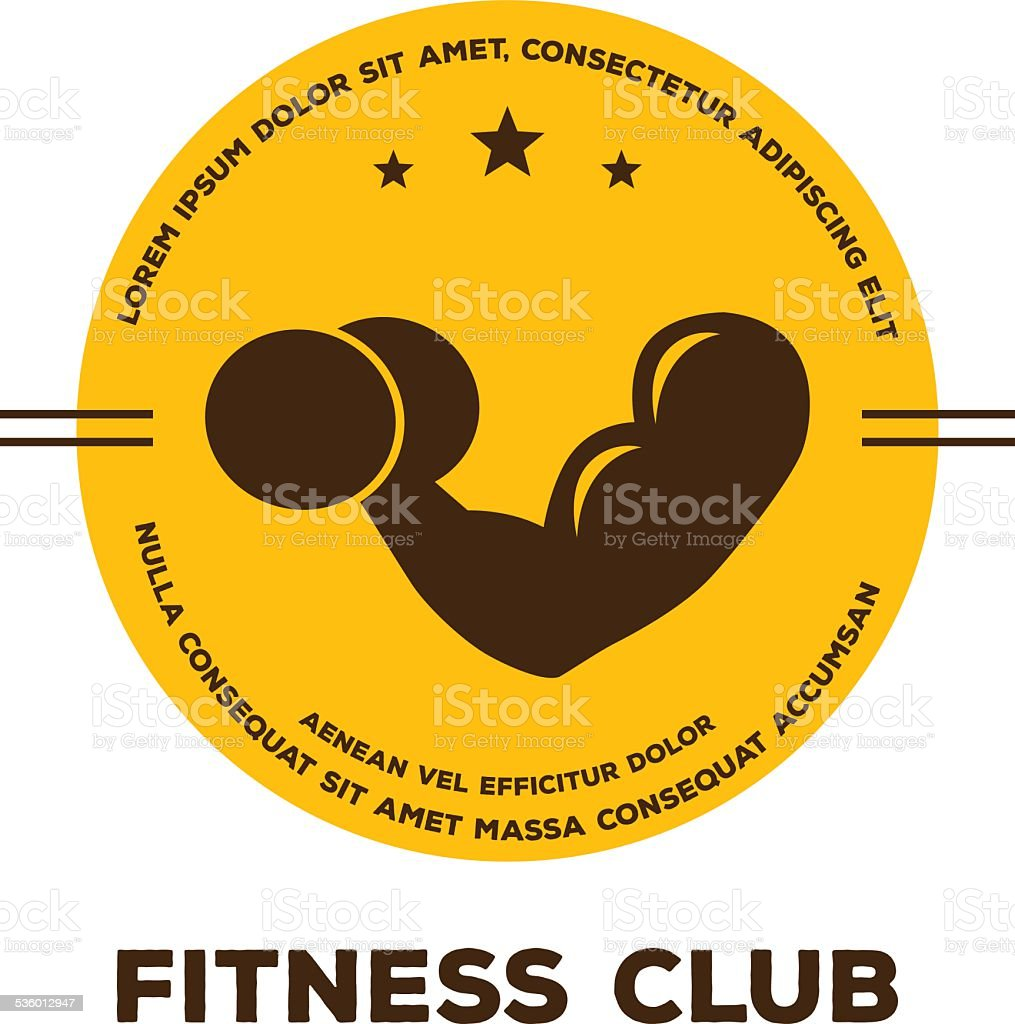 Logo for fitness club vector art illustration