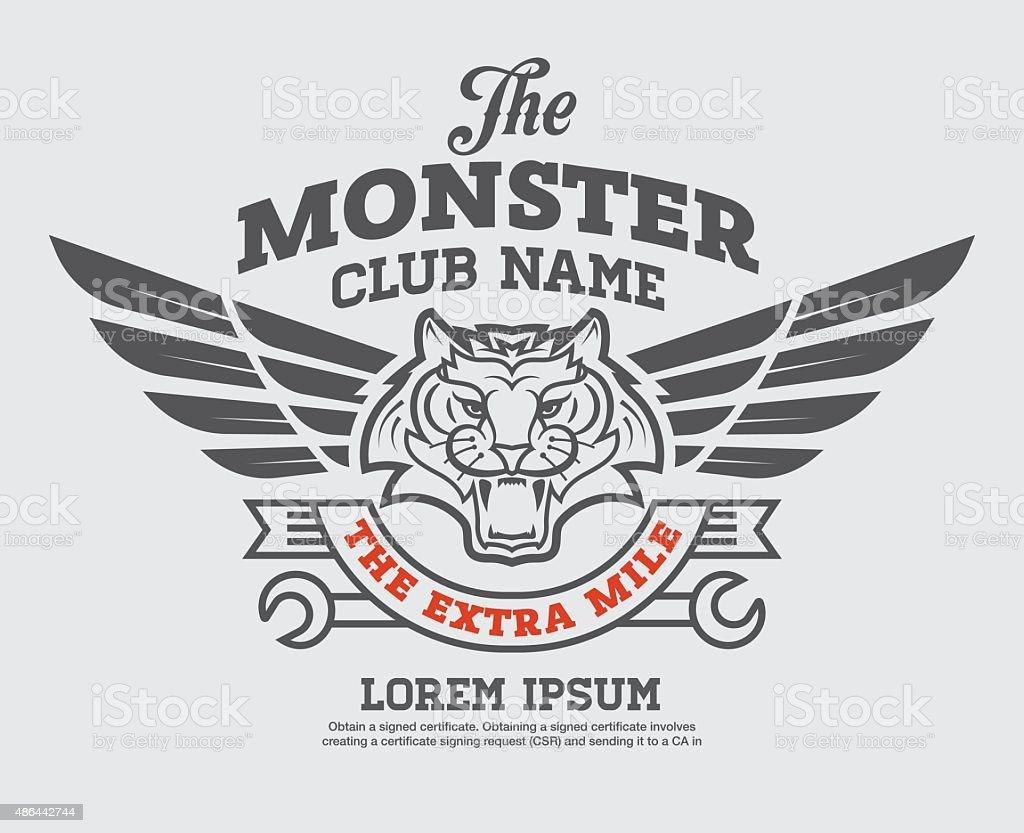 logo graphic design. vector art illustration