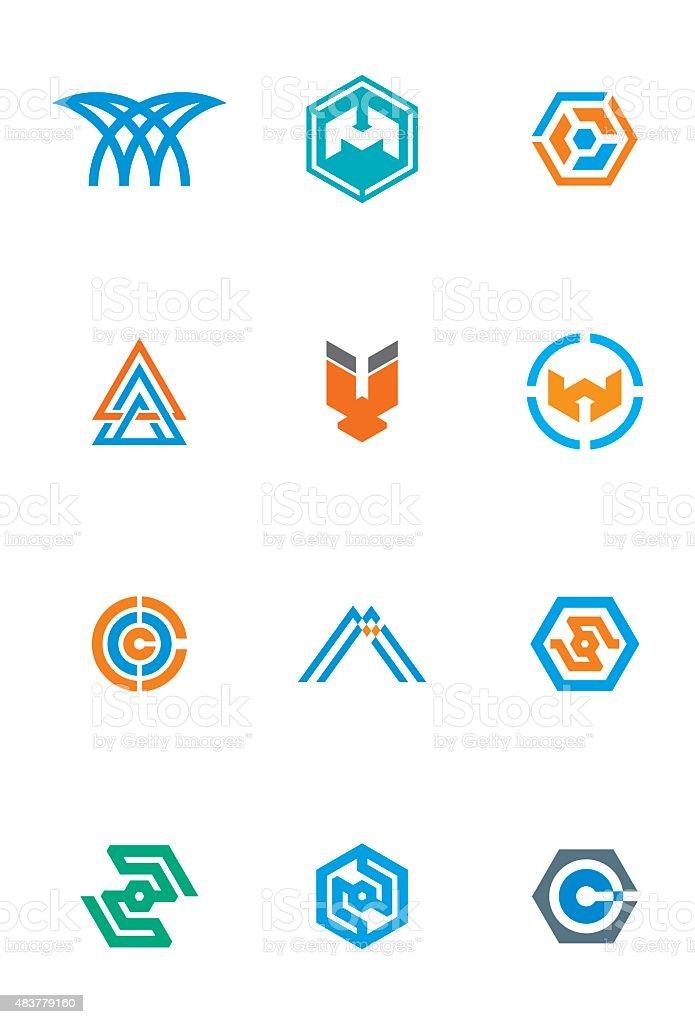 Logo Letters Brand Indentity vector art illustration