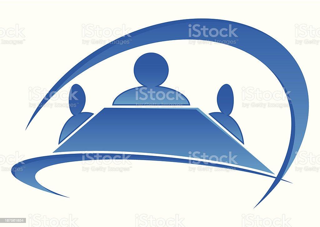 logo meeting room vector art illustration