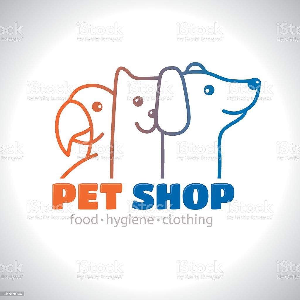 Logo pet vector art illustration