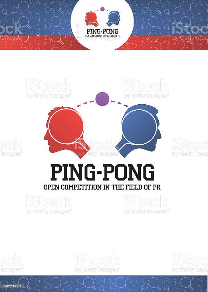 Logo Ping Pong,  PR,  Feedback royalty-free stock vector art