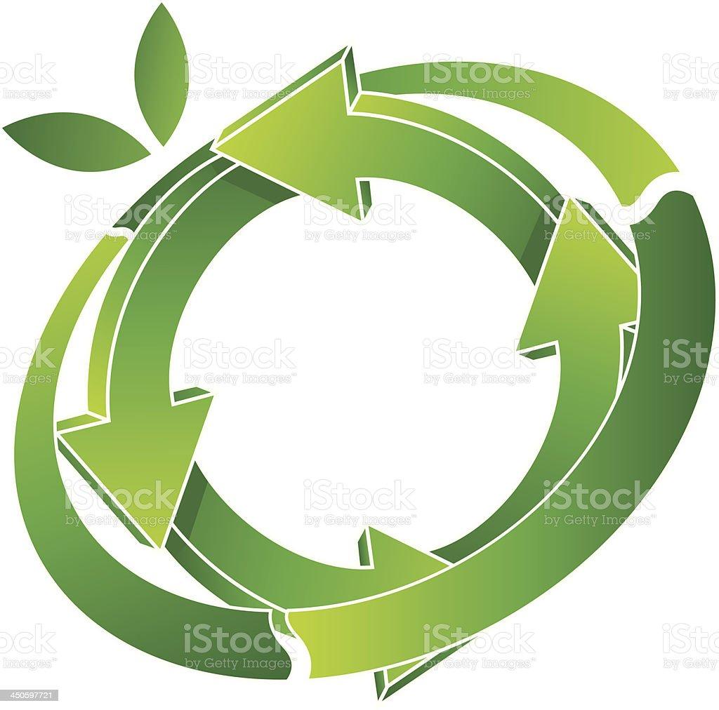 logo recycling royalty-free stock vector art