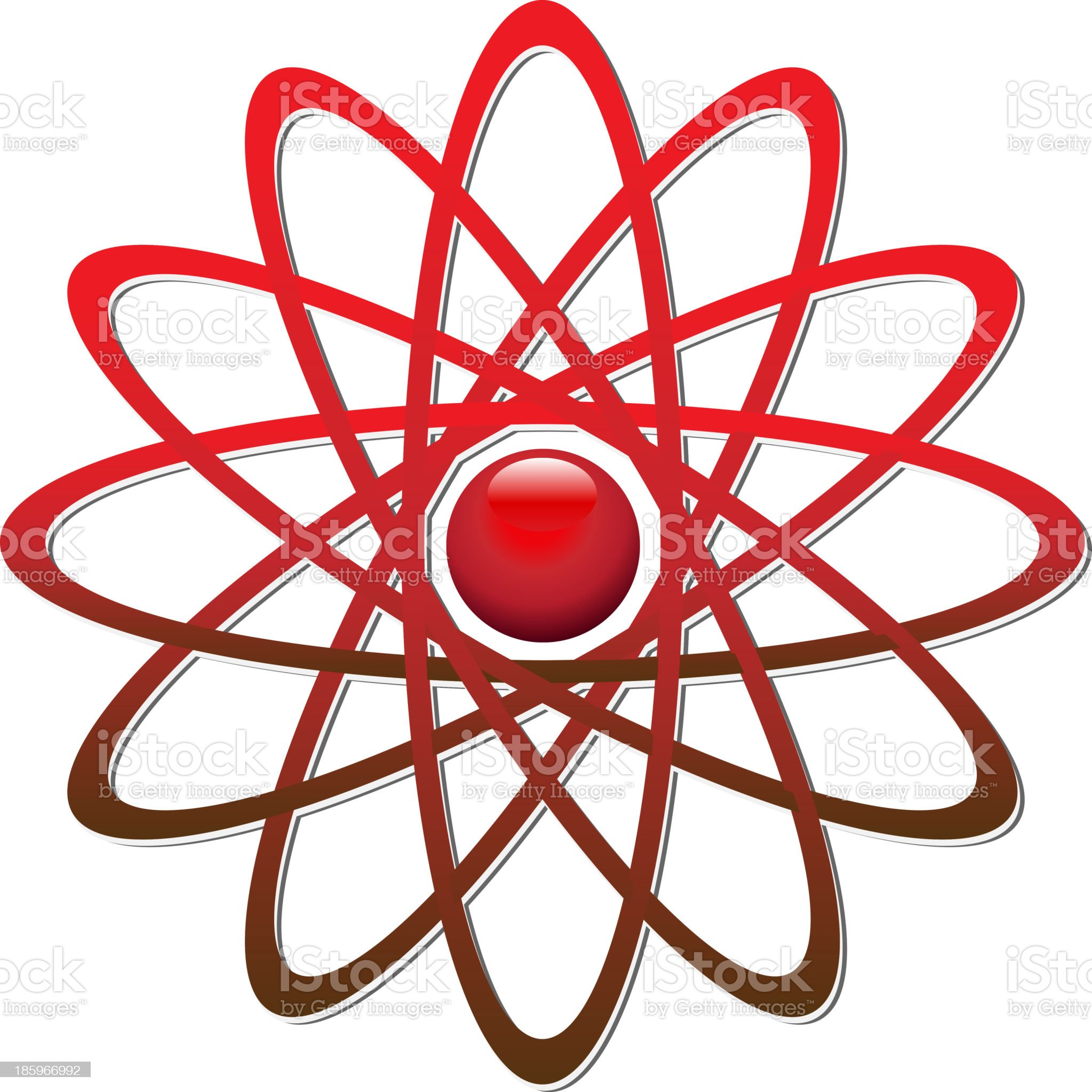 logo red atom royalty-free stock vector art