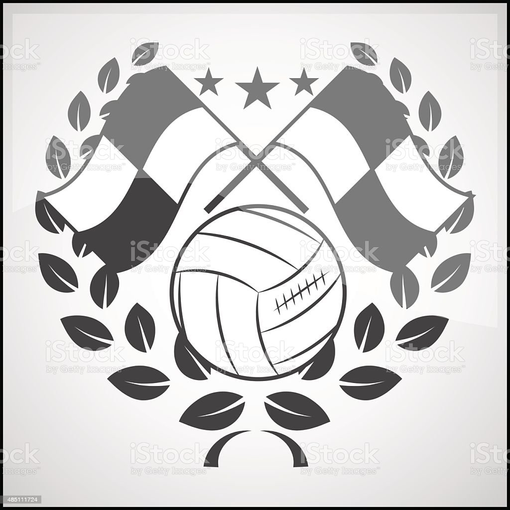 Logo set soccer vector art illustration