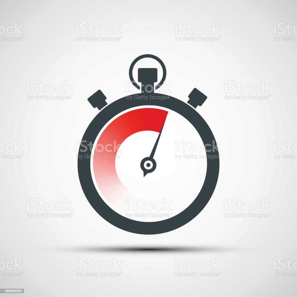 Logo sports stopwatch. vector art illustration