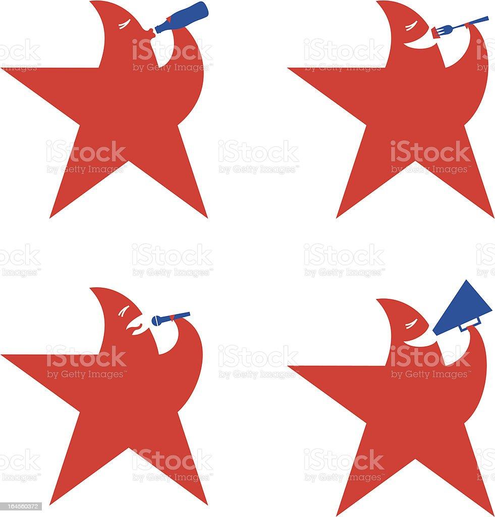 logo star royalty-free stock vector art