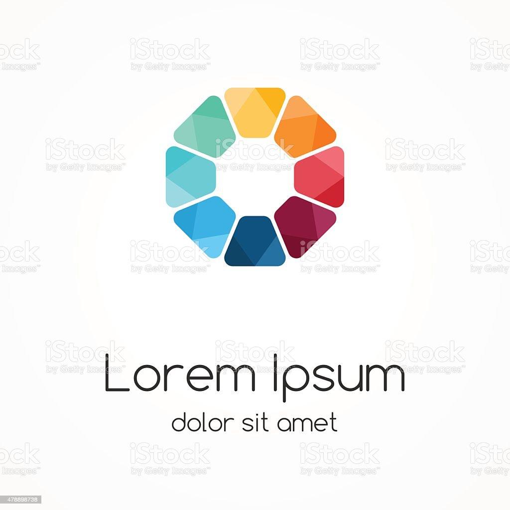 Logo template. Modern vector abstract circle creative sign or symbol vector art illustration