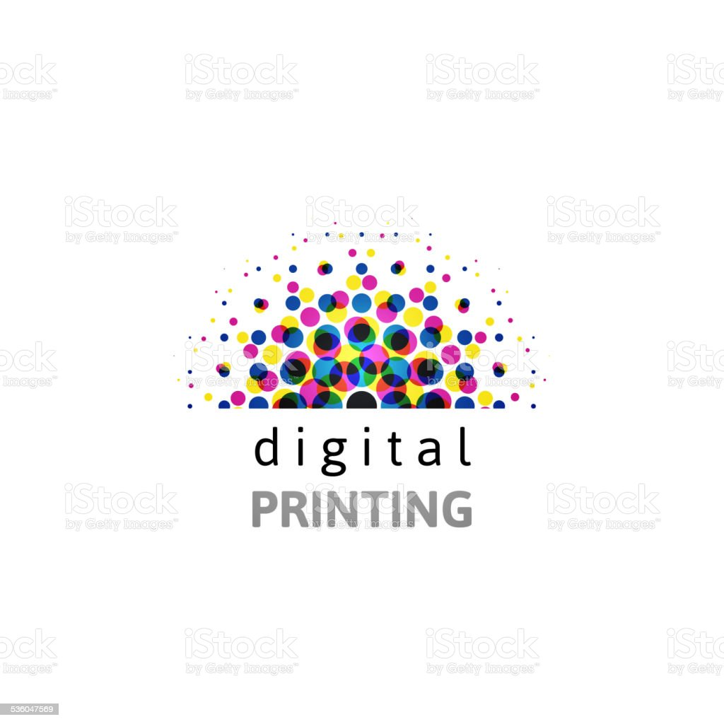 CMYK logo template vector art illustration