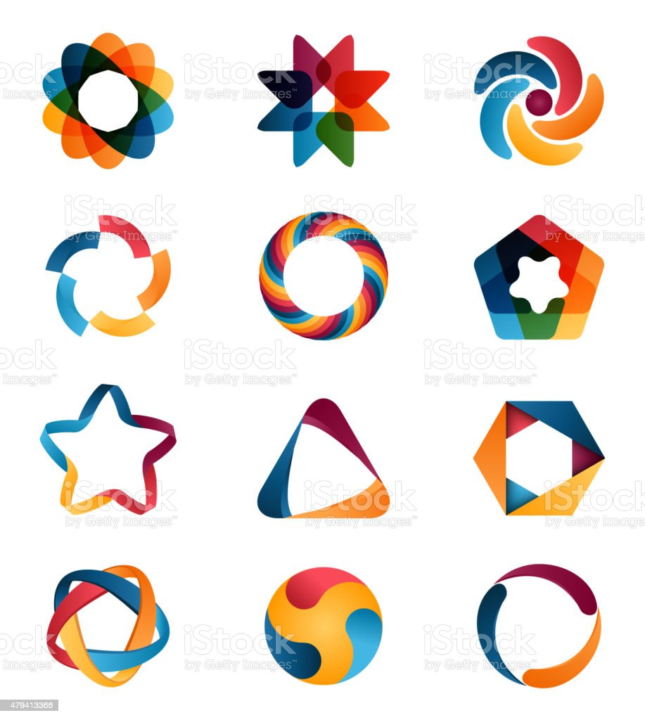 Logo templates set. vector art illustration