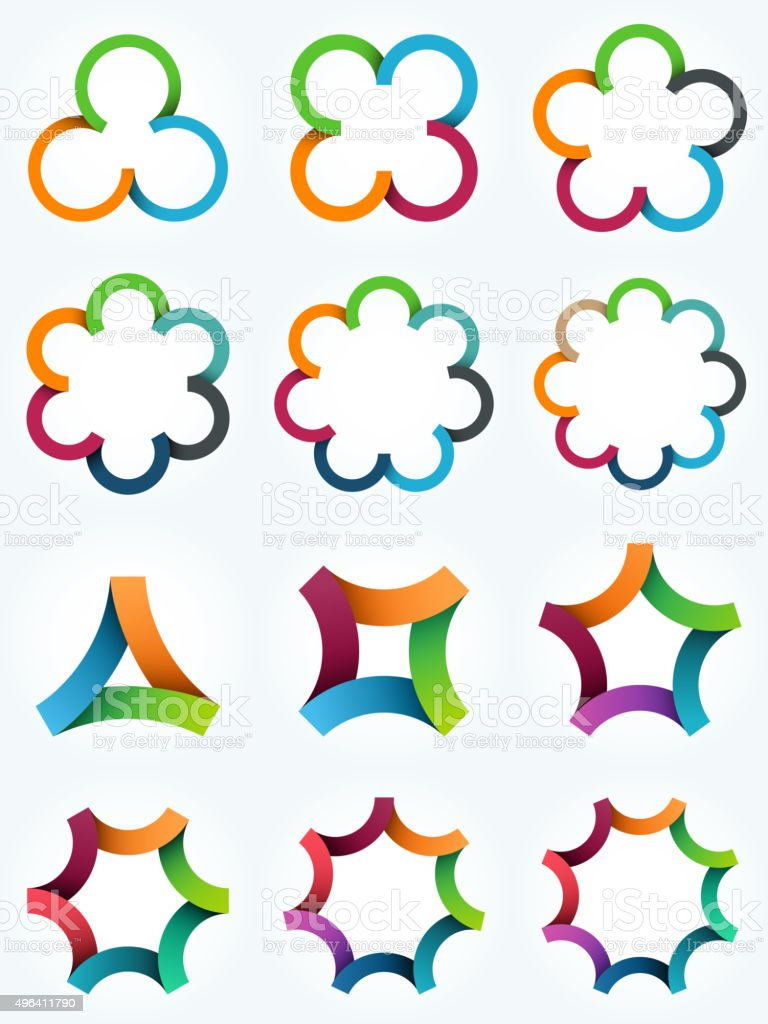 Logo templates set. vector art illustration
