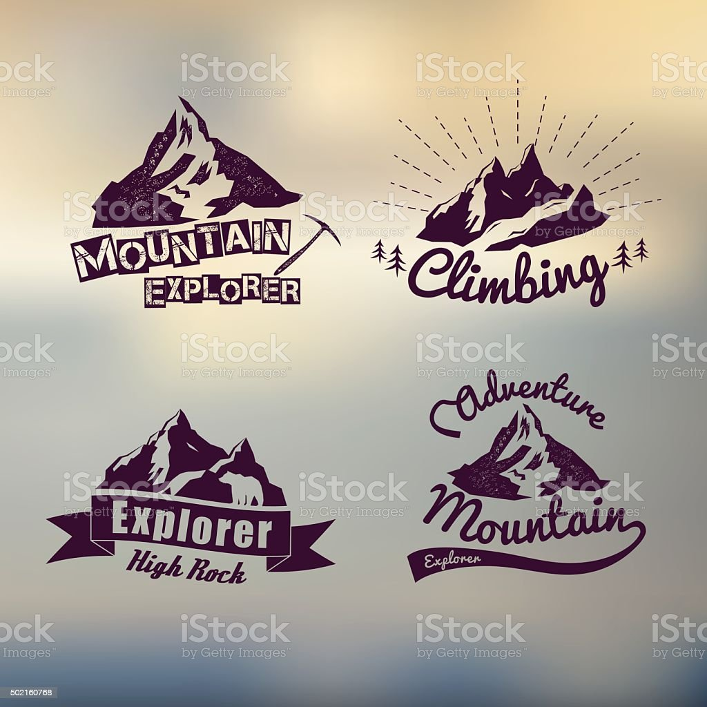 logo vintage outdoor theme vector art illustration