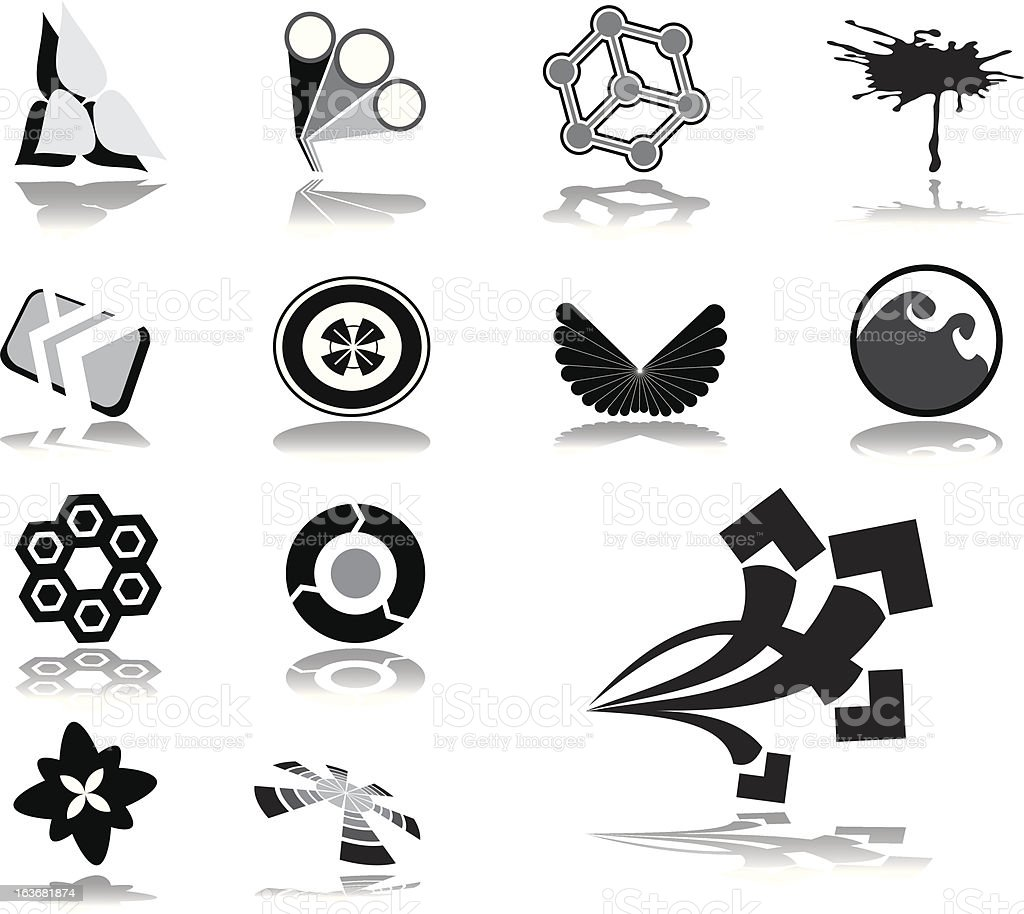 Logos and business brands royalty-free stock vector art