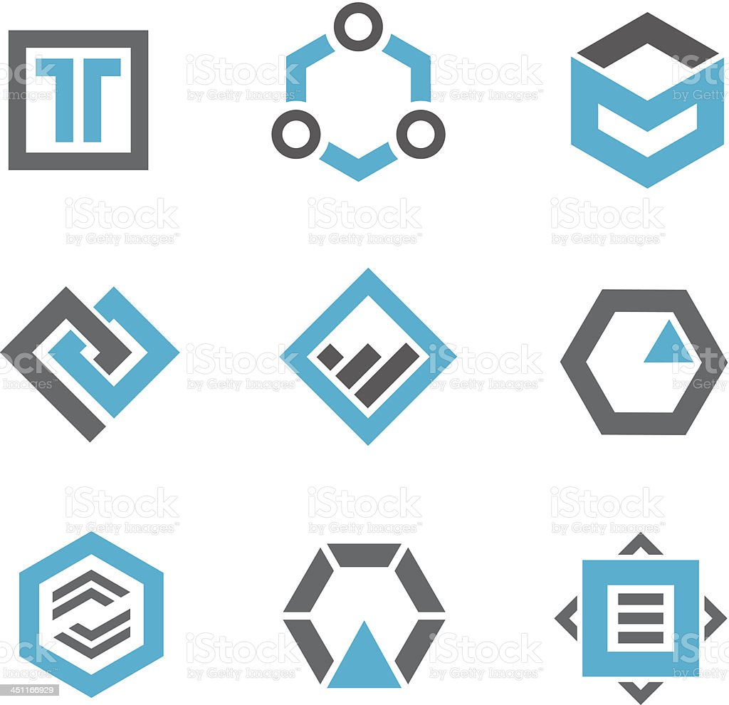 Logos and icons vector art illustration
