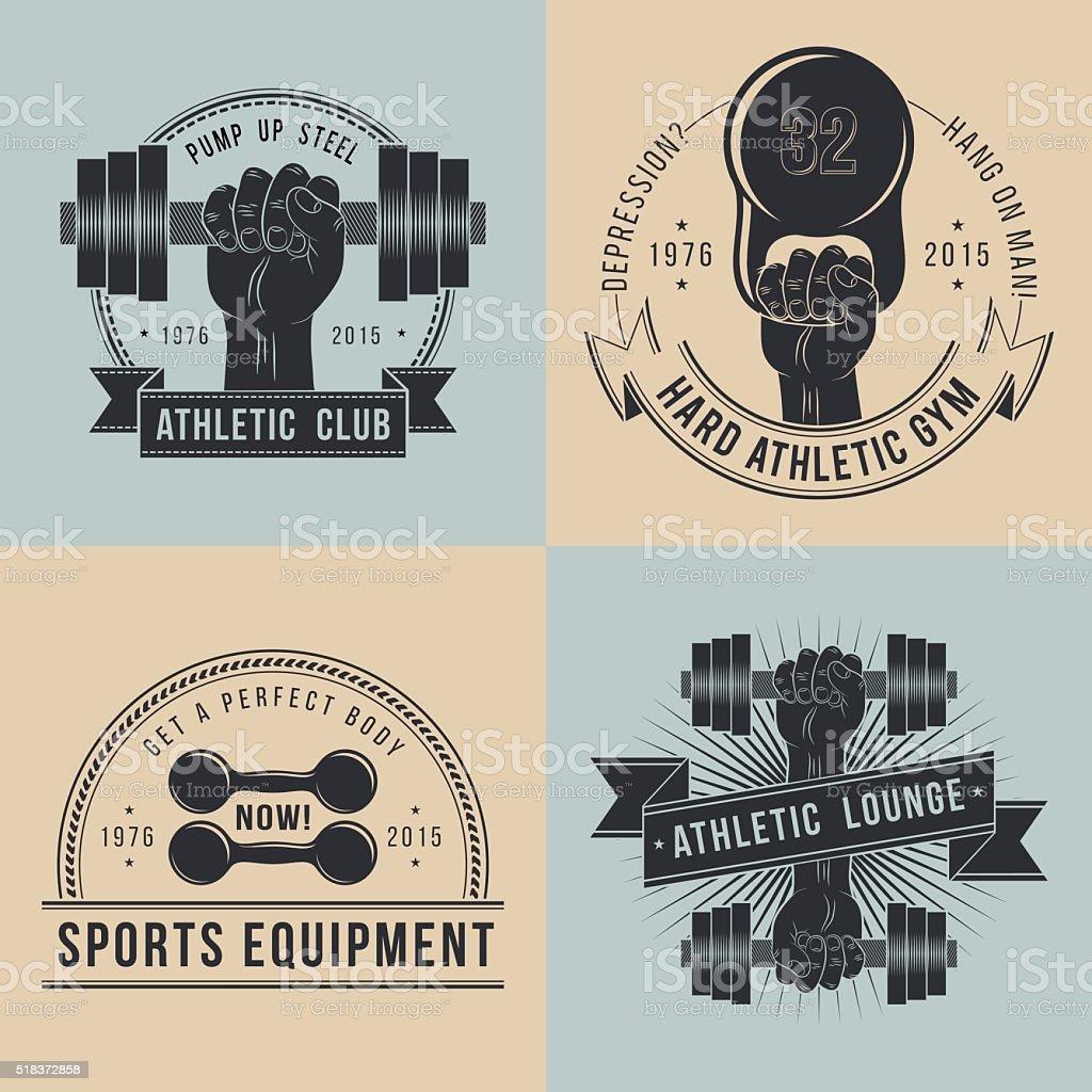 Logos for sport athletic club vector art illustration