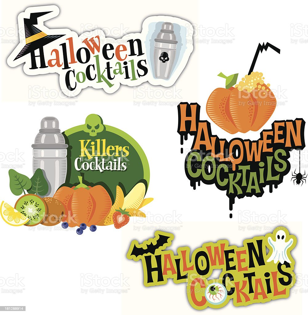 logotypes Halloween Cocktails royalty-free stock vector art