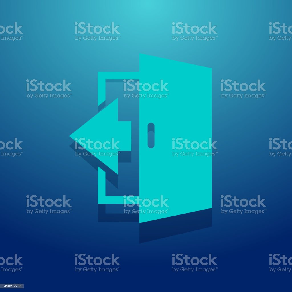 Logout Icon vector art illustration