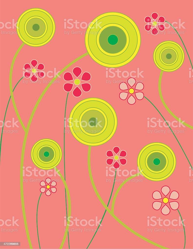 Lollipop flowers royalty-free stock vector art