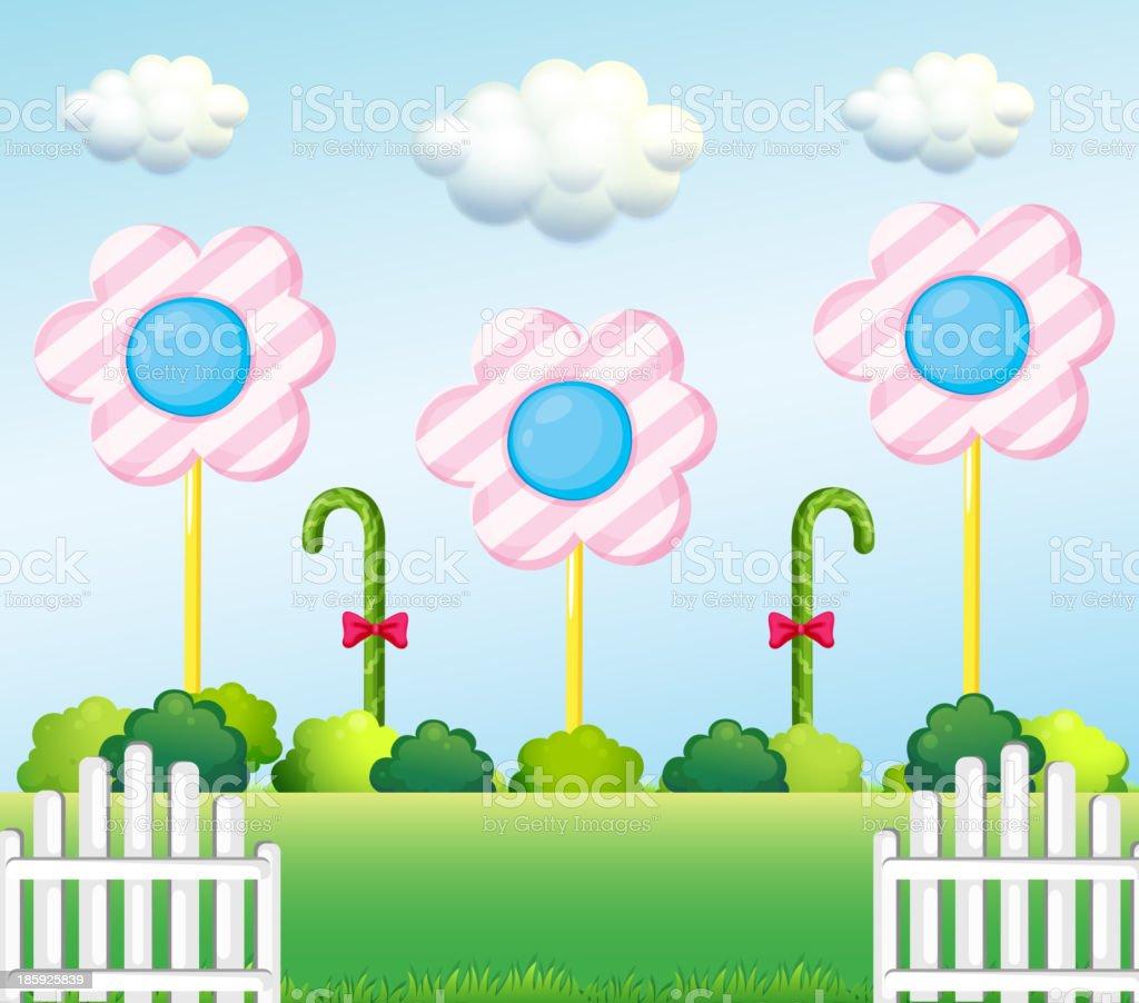 lollipop garden royalty-free stock vector art