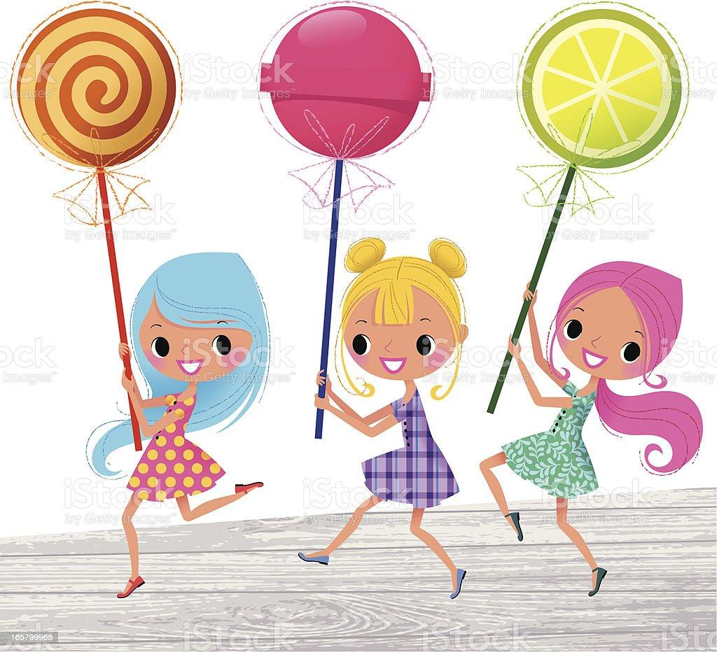 Lollipop March vector art illustration
