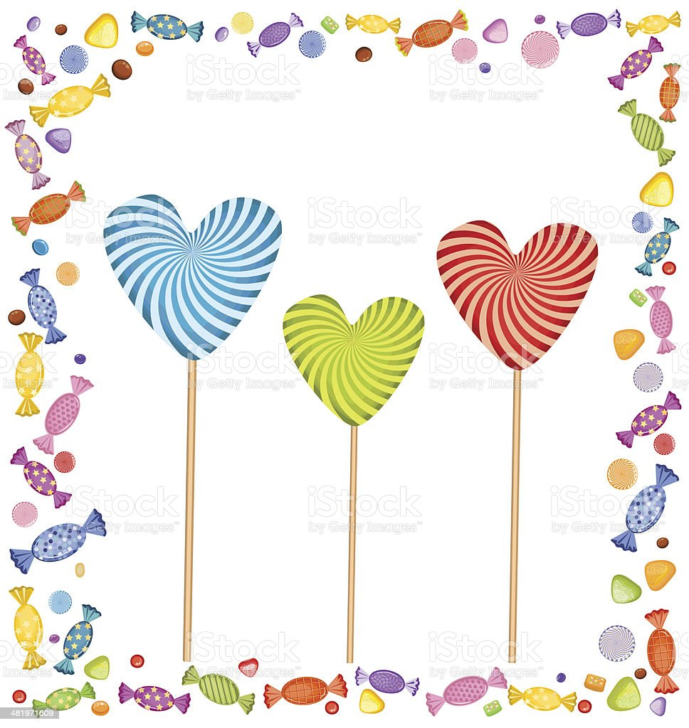 Lollipops and Candies royalty-free stock vector art