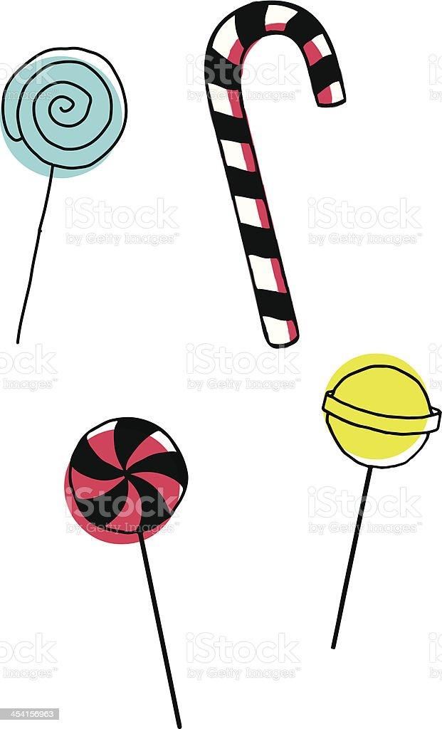 Lollipops royalty-free stock vector art