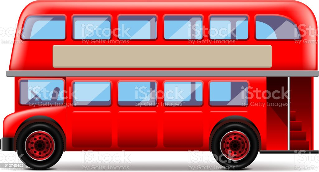 London bus isolated on white vector vector art illustration