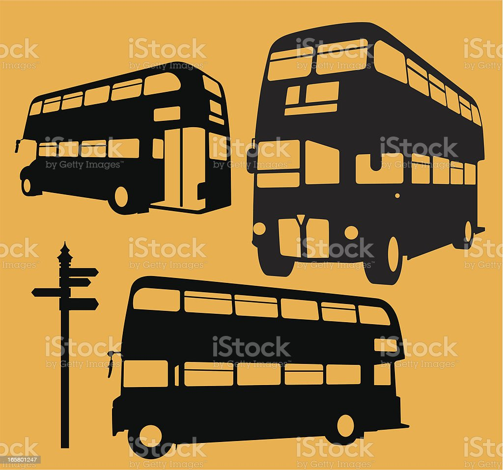 London Bus royalty-free stock vector art