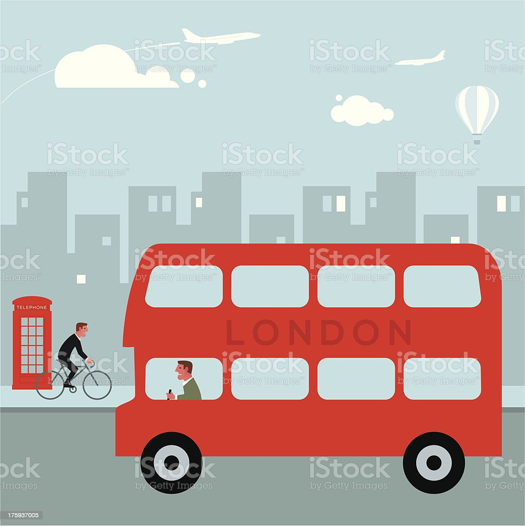 London bus vector art illustration