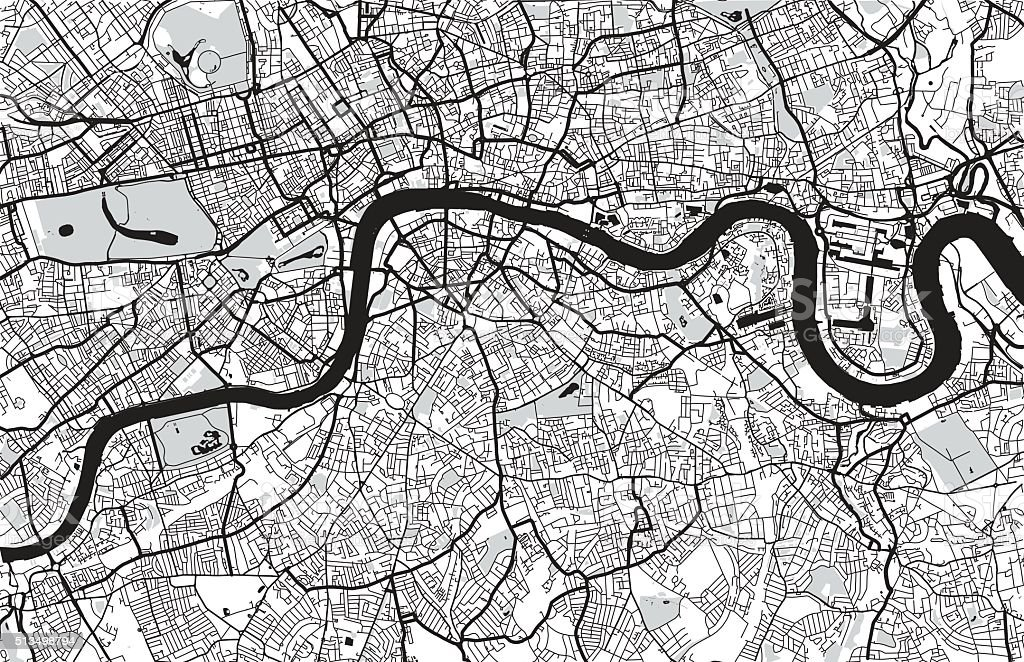 London City Map stock vector art 513498794 – Map of Greater London England