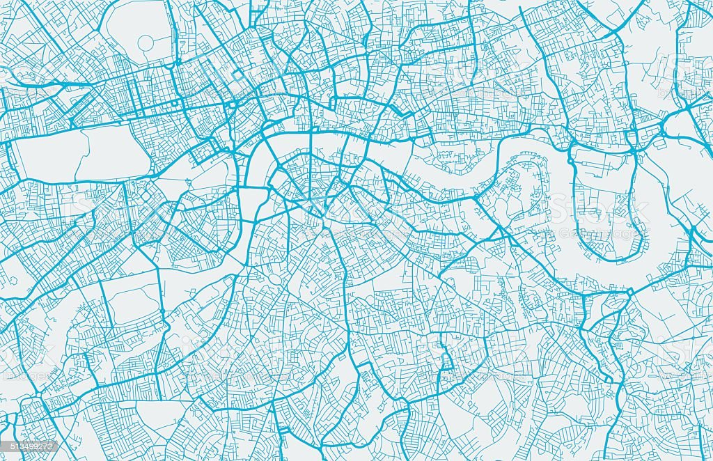 London city map vector art illustration