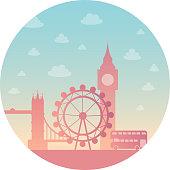 London city silhouette.