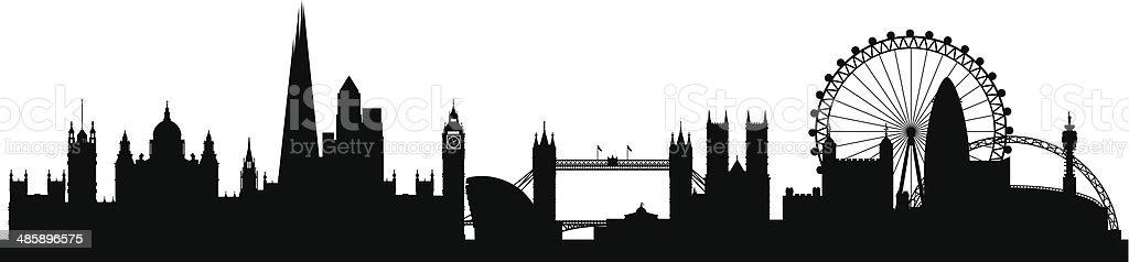 London Skyline At Night Clip Art