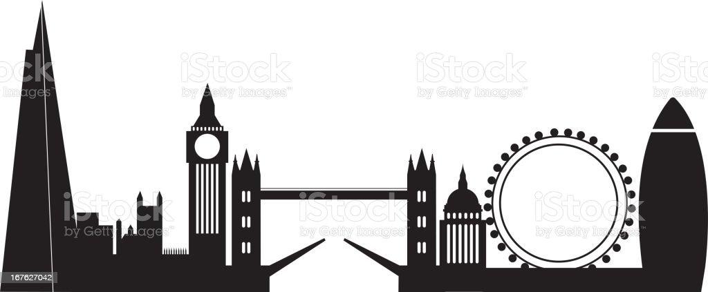 London city skyline royalty-free stock vector art