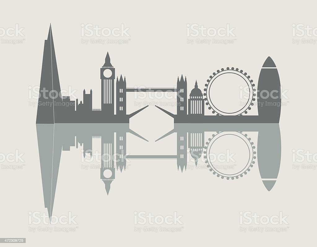 London city skyline vector art illustration